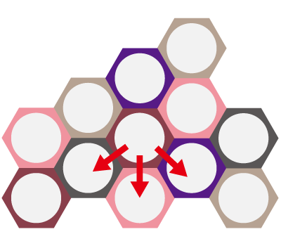 納骨ボトル「ハニカム」構造イメージ